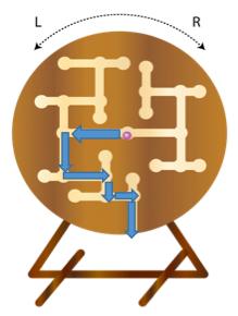 ビー玉の経路
