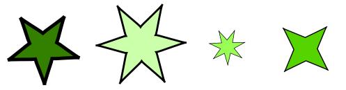 星の並び選択肢4